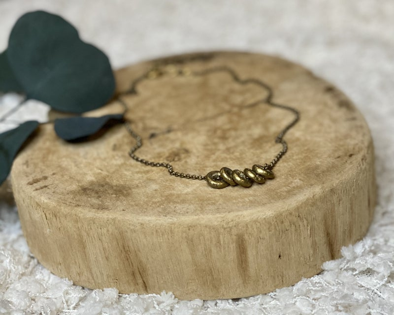 Brass Rings on Rings Necklace