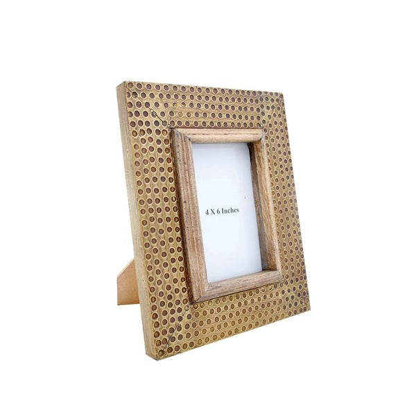 Hammered Brass 4x6 Photo Frame
