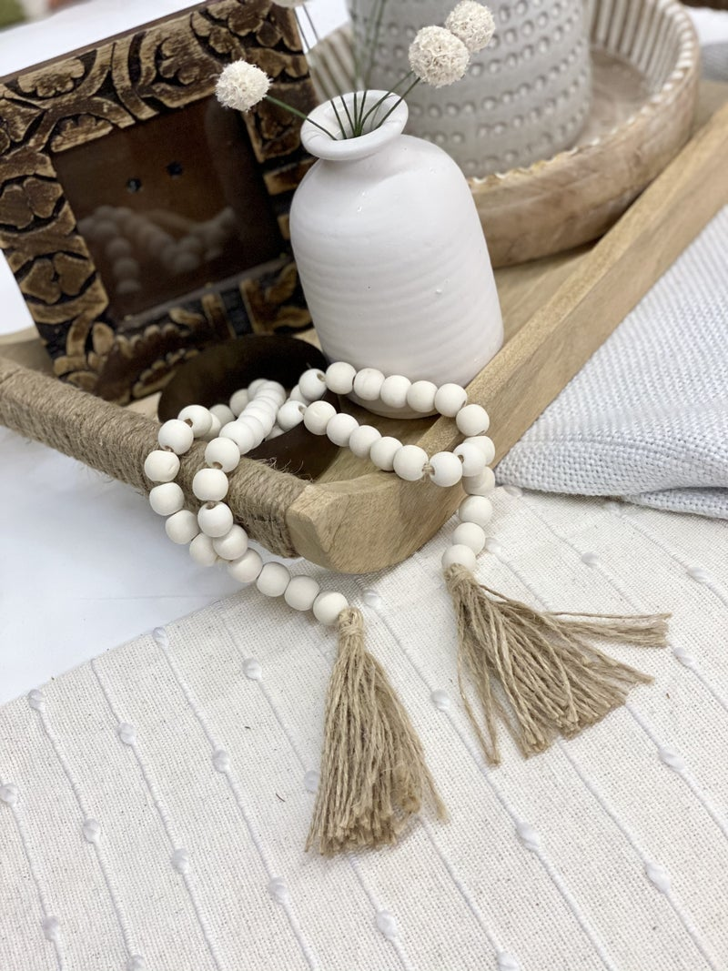 Washed Beads with Tassel