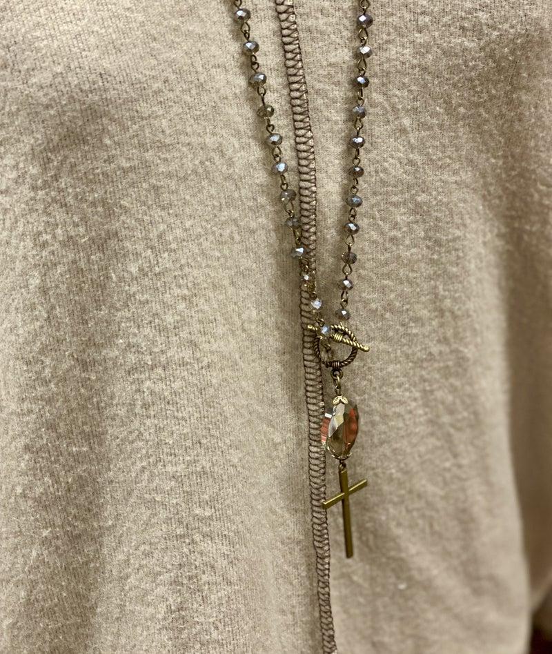The Cross Gem Necklace