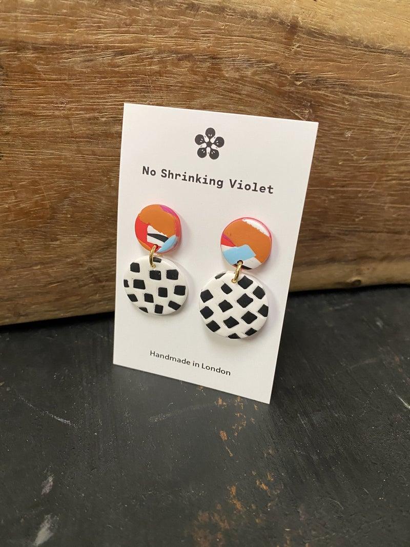 Retro Mini Circular Earrings