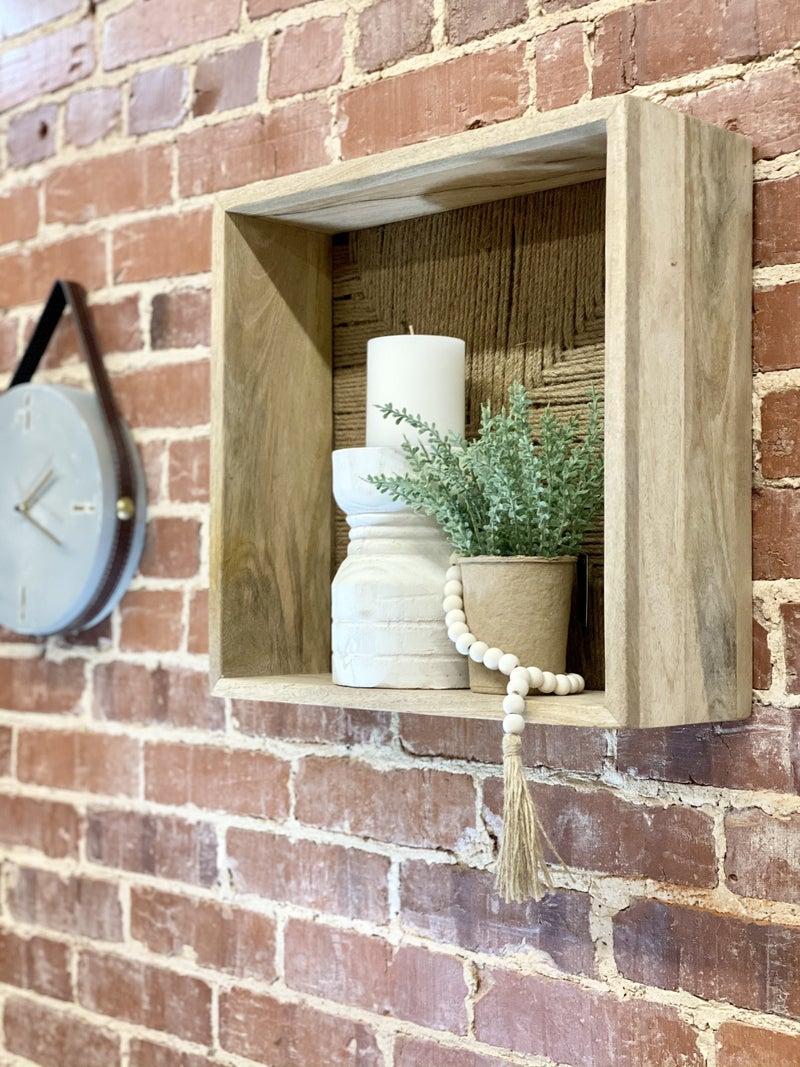 Set Of 2 Wooden Wall Shelves