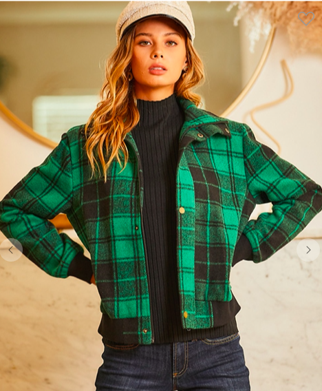 SO CUTE!  Flannel Jacket