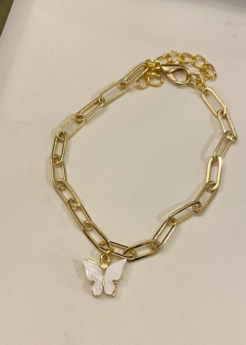 Butterfly Paperclip Bracelet