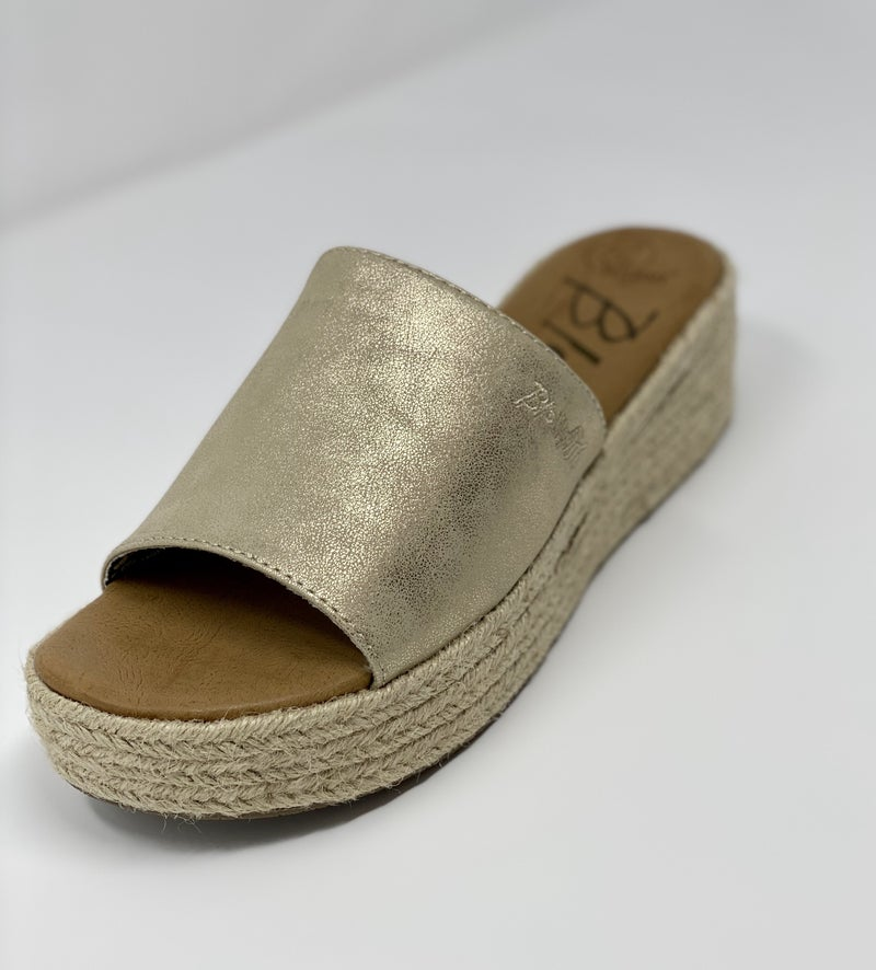 LEIGH GOLD PLATFORM SLIDE *Final Sale*