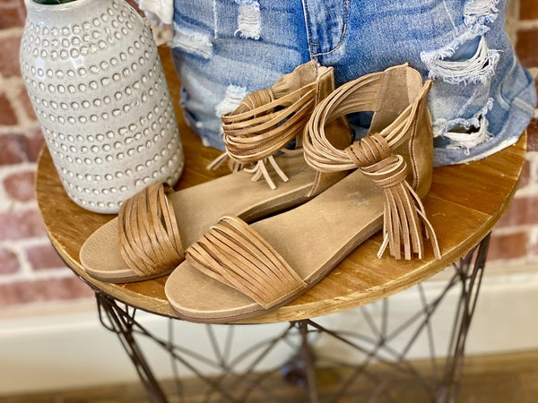 Brooke Leather Tassel Antelope Flats