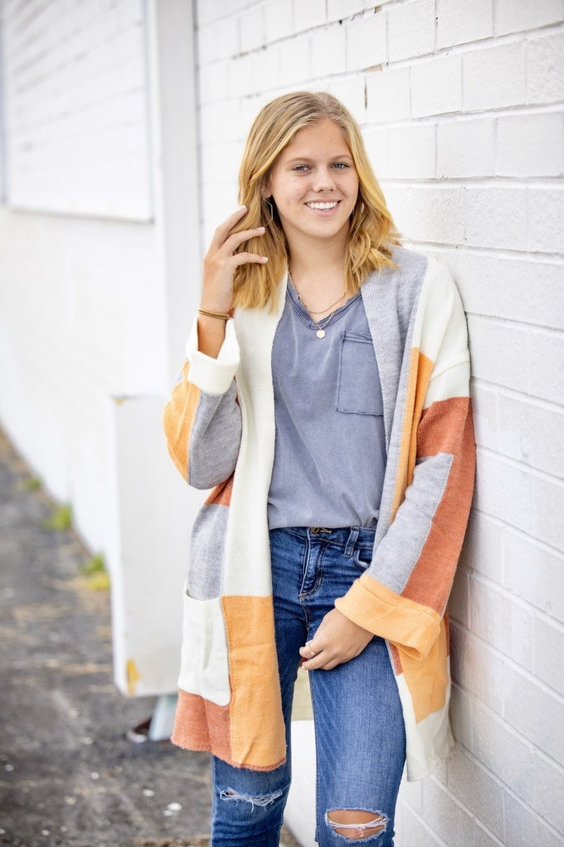 Fall For You Colorblock Cardi