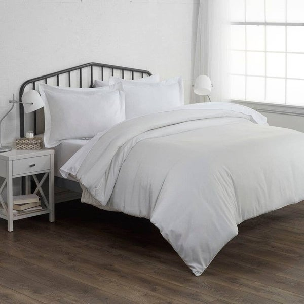 Pinstripe Duvet Cover with Shams