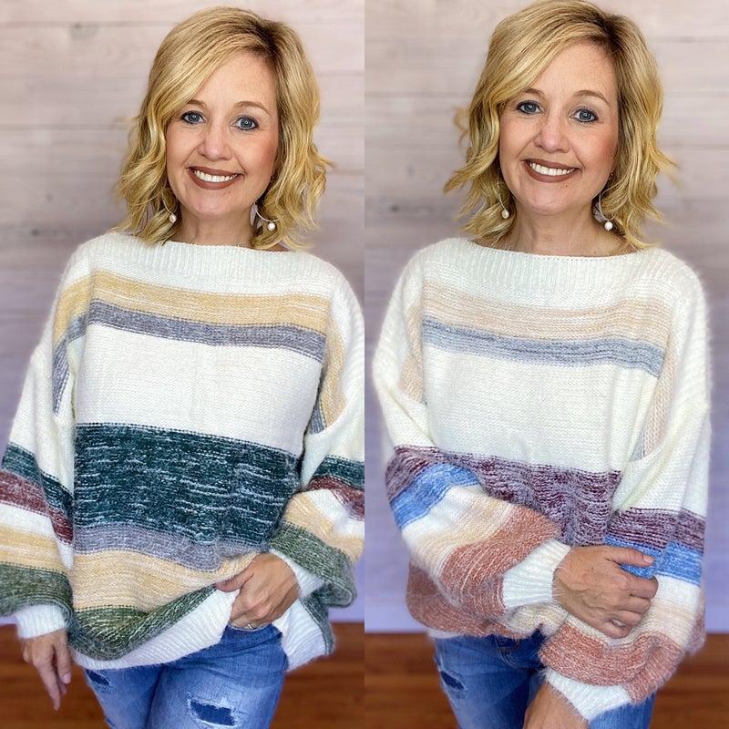 Mohair Yarn Multi Colored Sweater