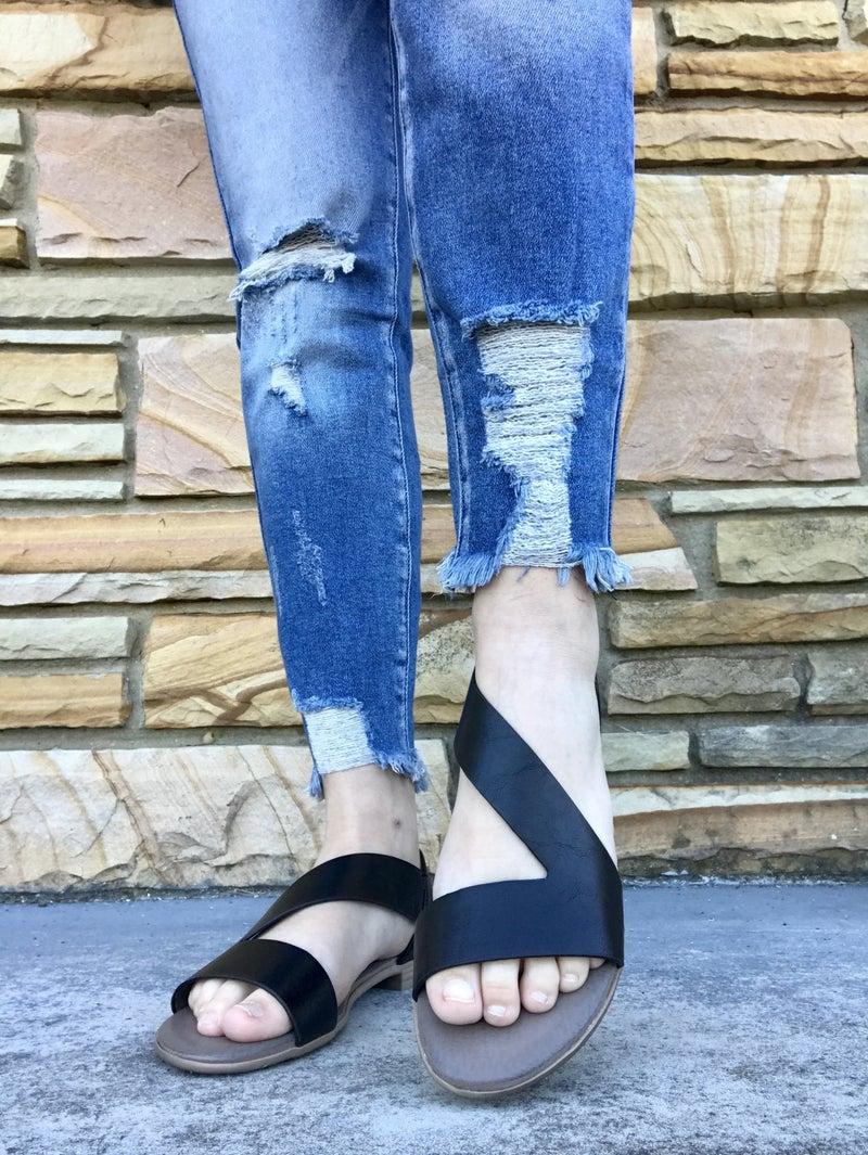 The Black Gracie Antelope Sandal
