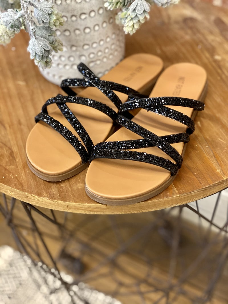 Black Beauty Sparkle Sandal