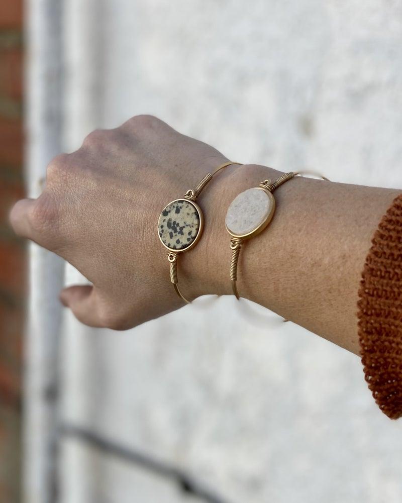 Natural Stone Bangle Style Bracelets