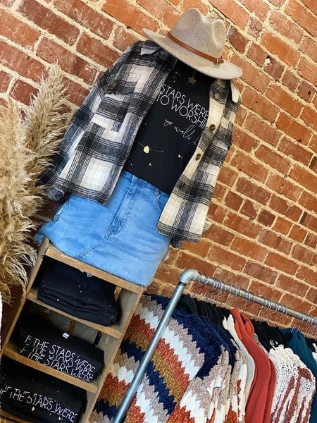 Gorgeous Flannel Frayed Jacket
