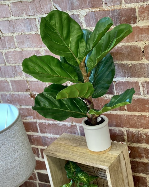 Faux Fiddle Leaf Fig in Pot