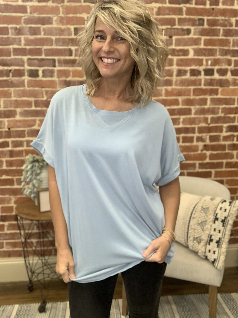 All occasion Top in Dusty Blue