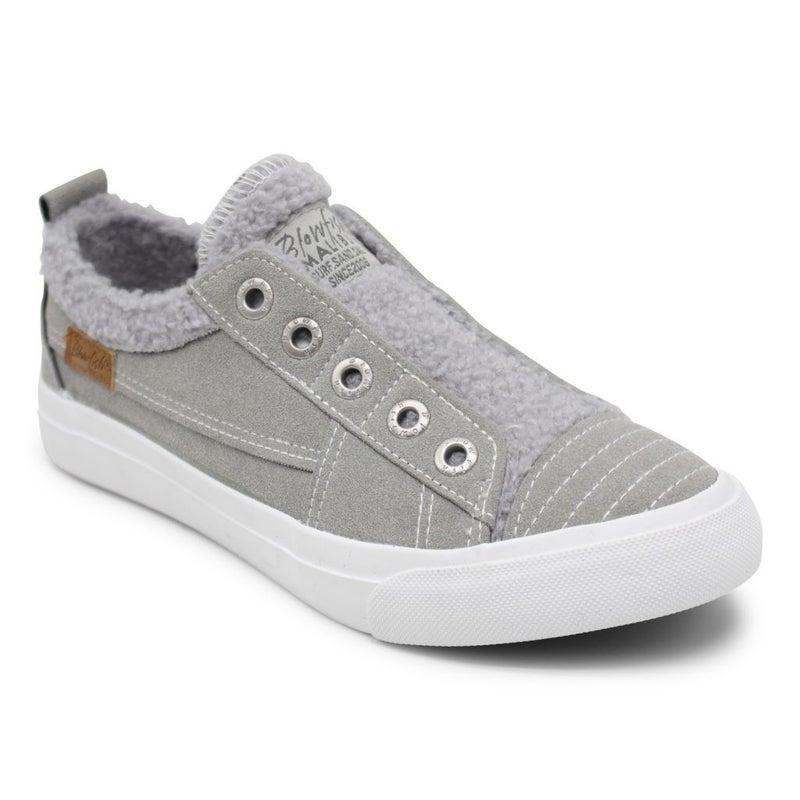 Blowfish Gray Suede Sherpa Playdoe Sneaker
