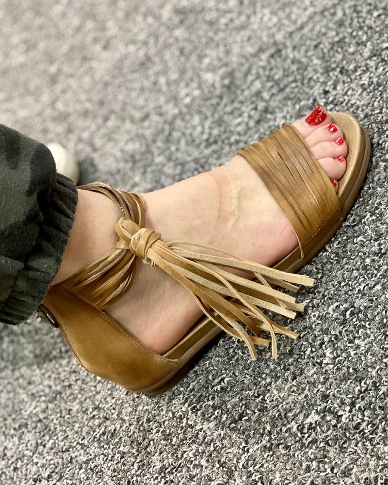 Brooke Leather Tassel Antelope Flats