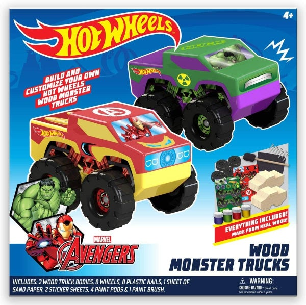 Hot Wheels 2 Pack Wood Racers...Avengers Style!