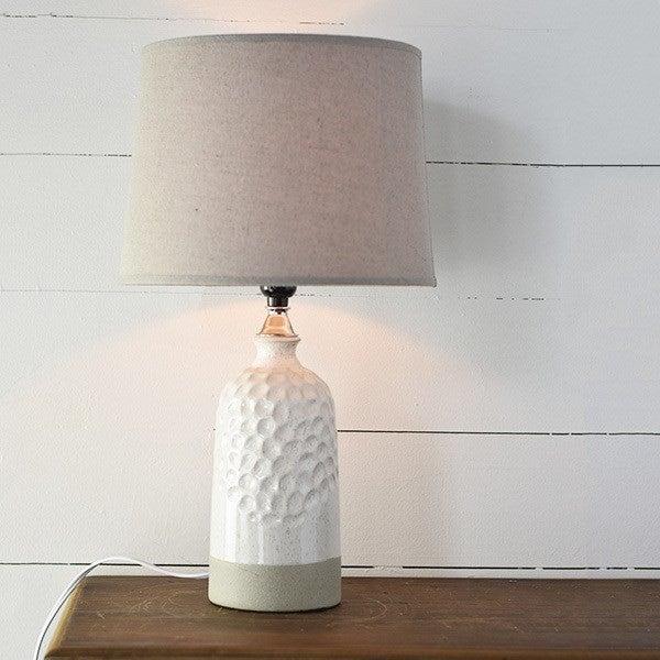 Oatmeal Boho Lamp