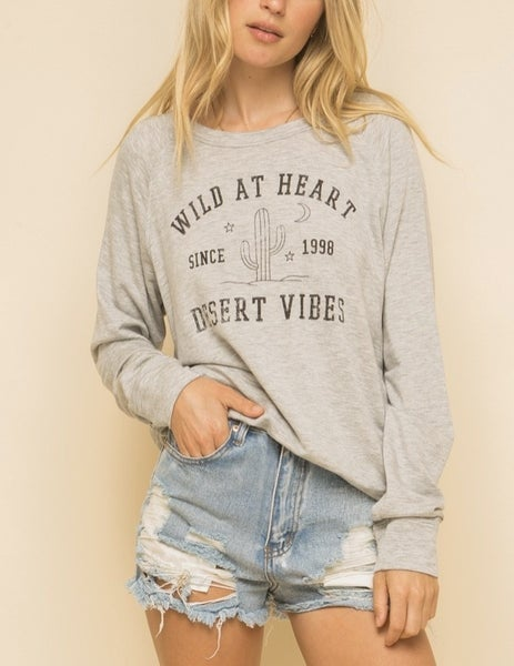 Wild at Heart Cactus Sweatshirt