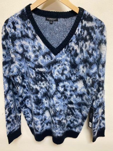 Liverpool Blue V-Neck Sweater