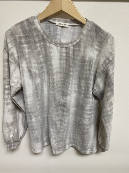 Grey Tie-Dye Lounge Top