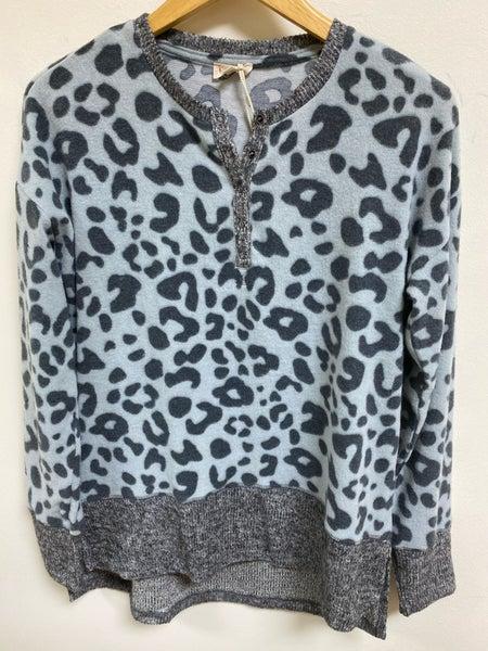 Leopard Fleece Top