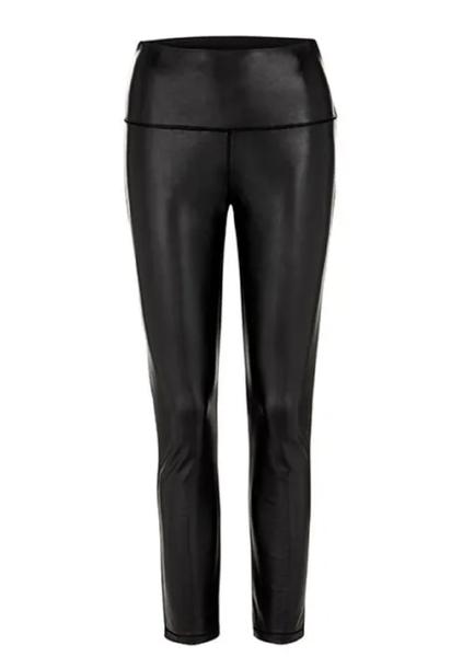 Black Faux Leather Legging