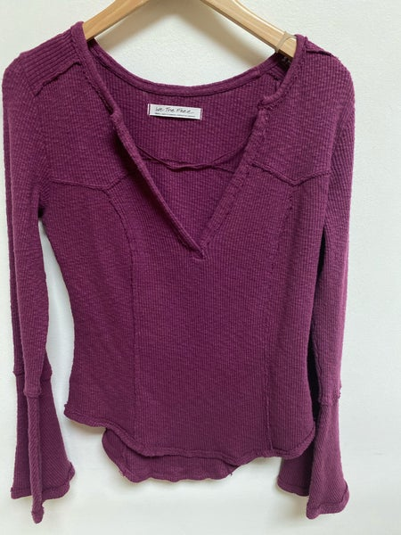Plum Ribbed Top