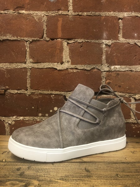 Taupe Hidden Wedge High Top