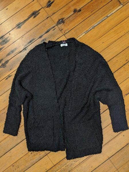 Popcorn Knit Cardigan Sweater