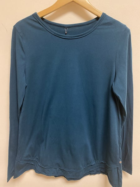Teal Blue Long Sleeve Top