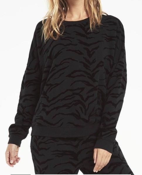 Marin Tiger Flocked Sweatshirt
