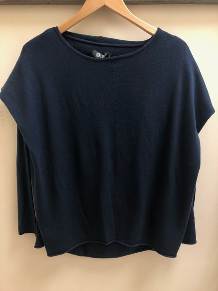 Navy Layered Top