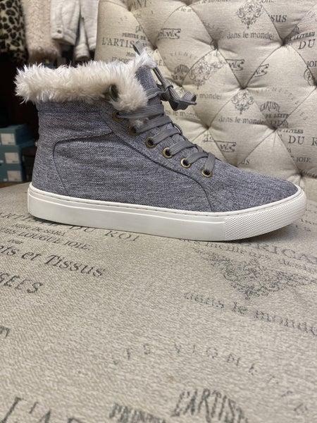 Fur-Lined Sneaker Boot