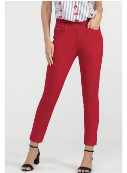 Red Stretch Ankle Jegging