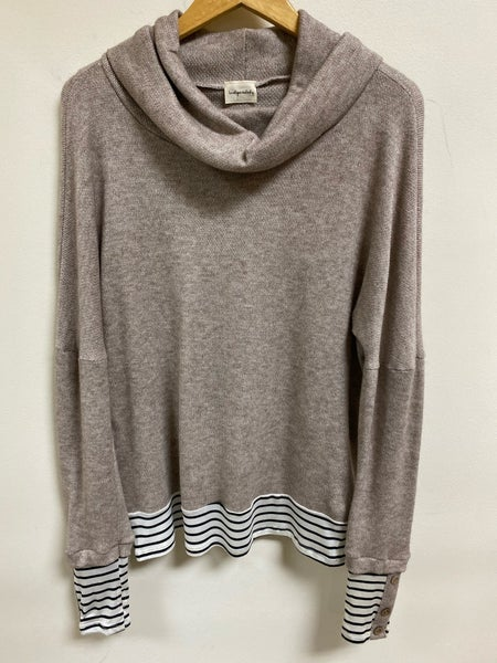 Taupe Cowl Neck Top