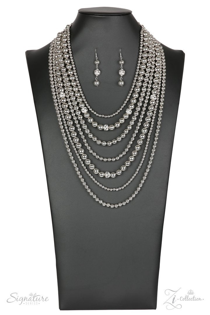 Paparazzi The Tina - Zi Collection Necklace and matching Earrings