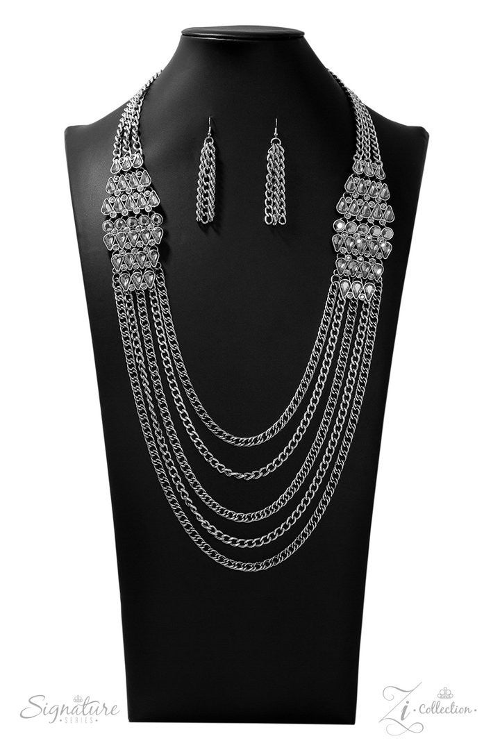 Paparazzi The Erika - 2019 Zi Collection - Necklace and matching Earrings