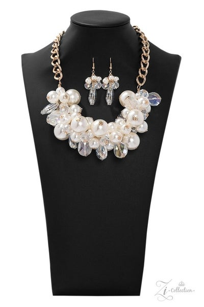 Paparazzi Captivate - Exclusive Zi Collection - 2019 - Necklace and matching Earrings
