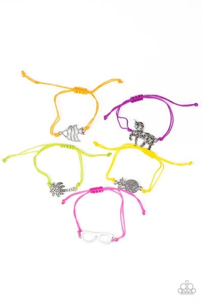 Starlet Shimmer Bracelets - 5 - Unicorn, Fish, Palm Tree, Pineapple & Sunglasses