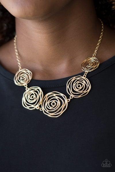 Rosy Rosette - Gold