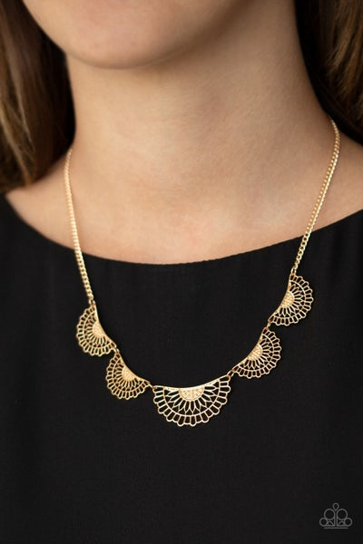 Fanned Out Fashion - Gold