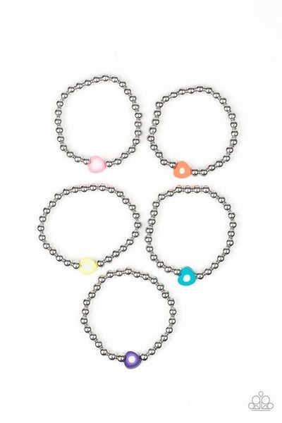 Starlet Shimmer Heart Bracelets - Set of 5