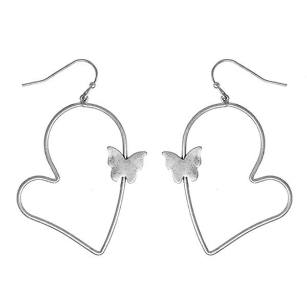 Heart Butterfly earring