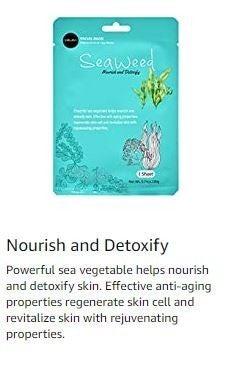 Celavi Essence Facial Paper Sheet Skin Care Moisturizing Seaweed