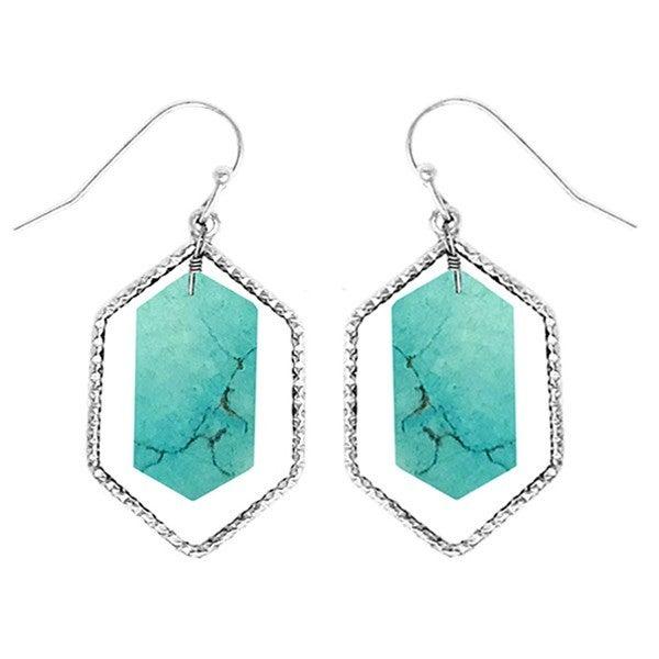 Marble dangle earring