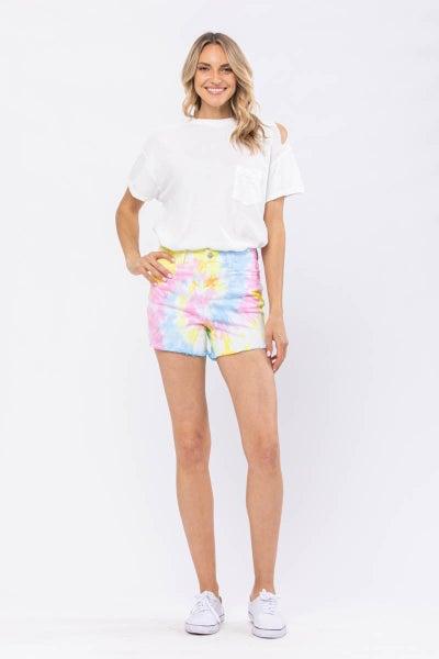 Swirl Tie Dye Judy Blue Shorts