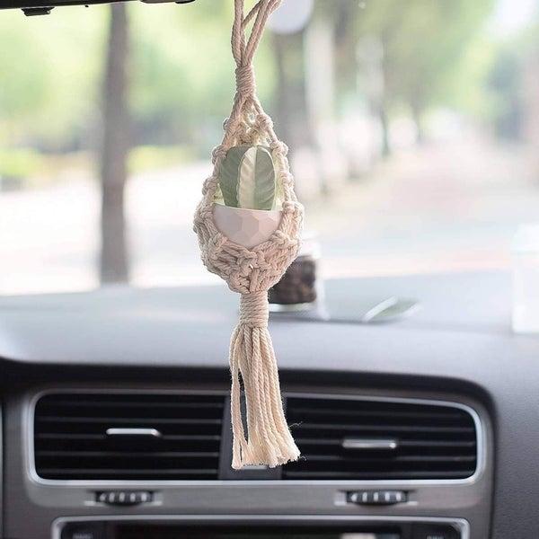 basket succulent car freshener