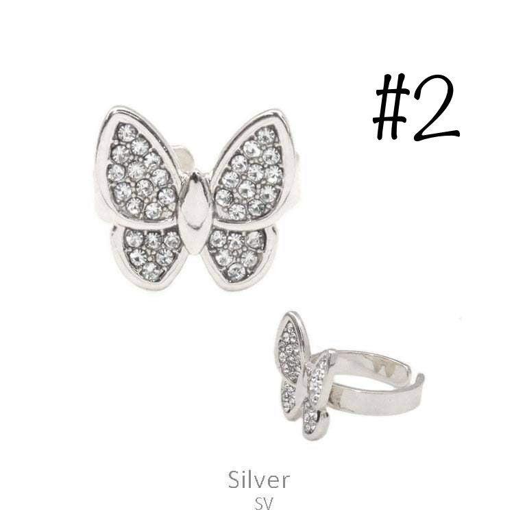 Bling Butterfly Ring